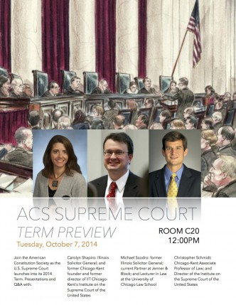 Supreme Court 2014 Term Preview Flyer