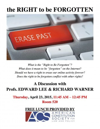 FLYER - THE RIGHT TO BE FORGOTTEN