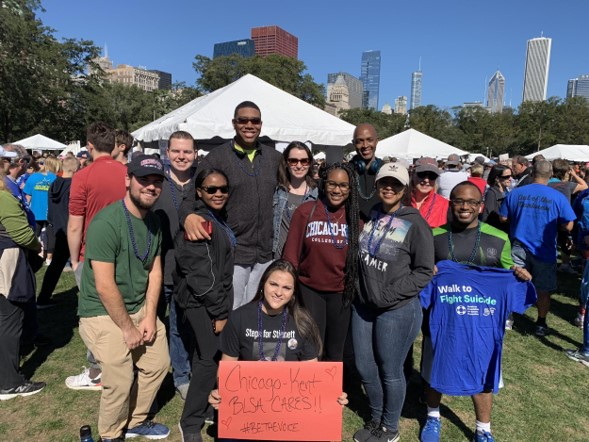 Chicago-Kent BLSA members at the 2018 Out of the Darkness Chicagoland Walk