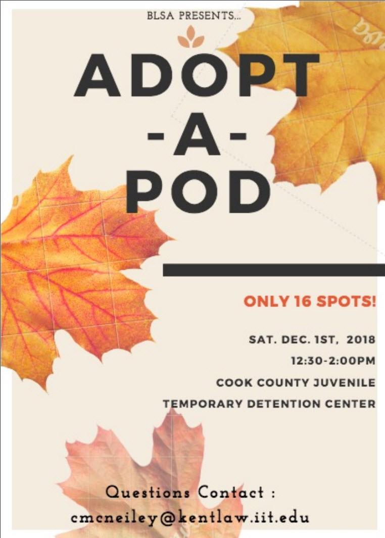 Adopt a Pod flyer