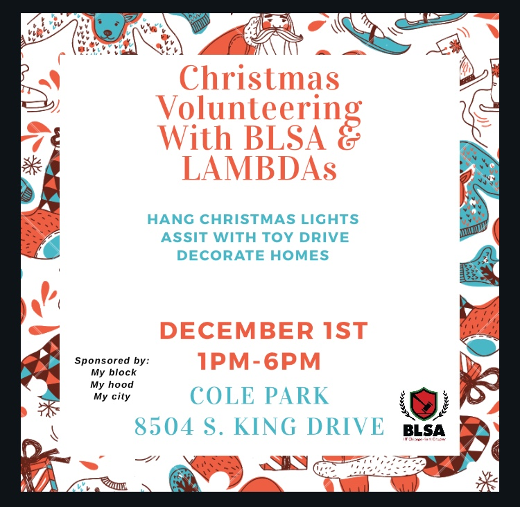 Flyer for Christmas Volunteering event on December 1st