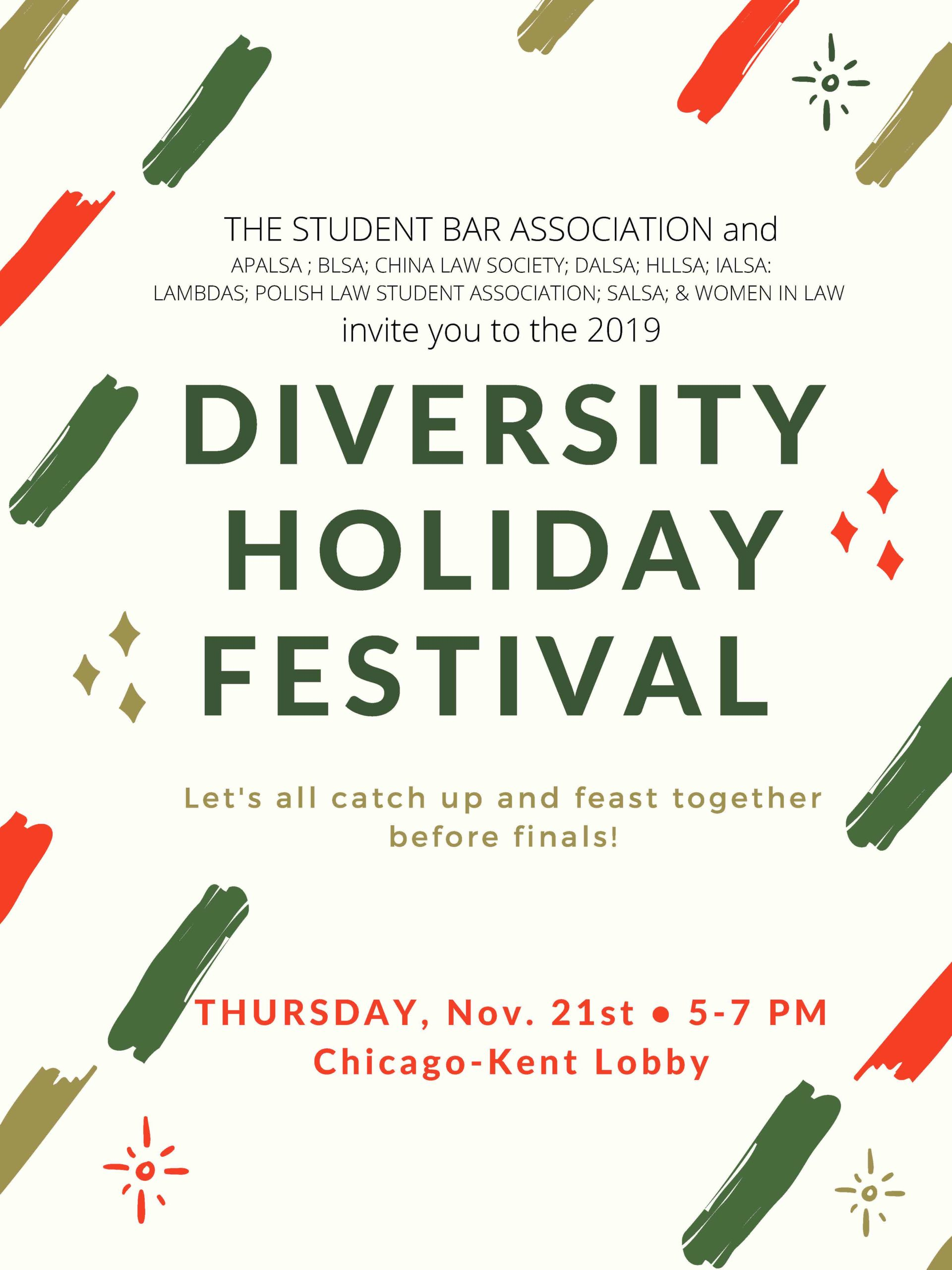 2019 Diversity Holiday Festival Flyer