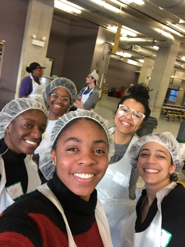CK Students at Pacific Garden Mission Soup Kitchen