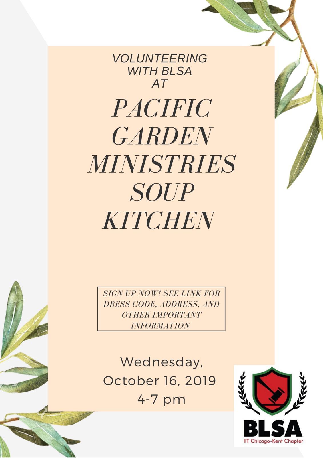 Flyer for October 16 Soup Kitchen Volunteer Event