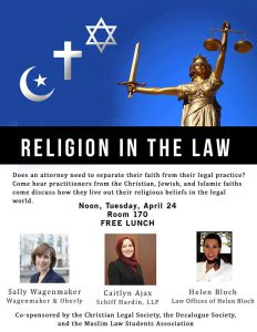 Religion in the Law flyer