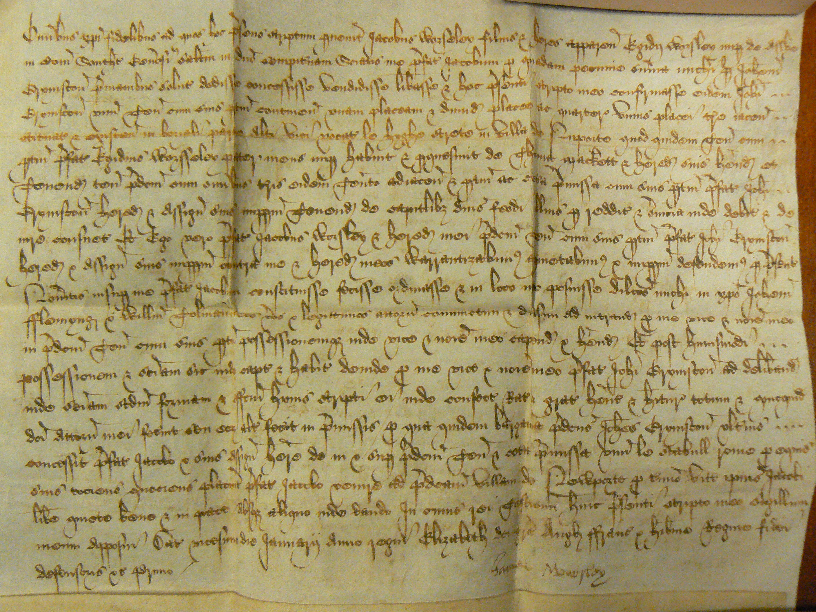 Zacharias Legal Document Collection - 1559 Title Deed