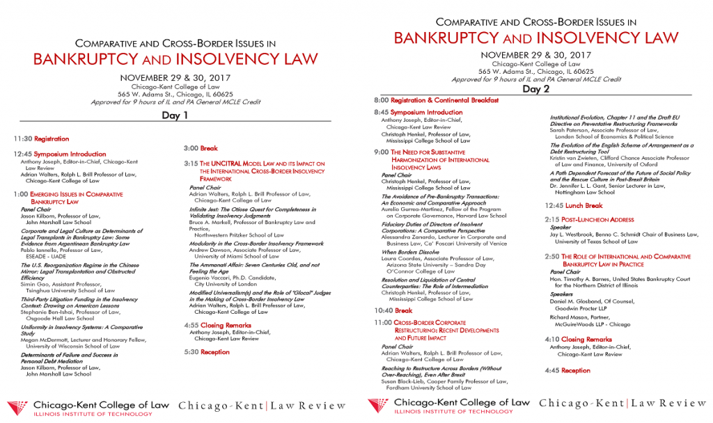 Bankruptcy Symposium Program