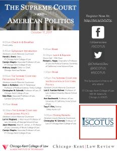 SCOTUS Symposium Flyer