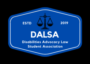 """DALSA logo with scales of justice image and """"established 2019"""""""