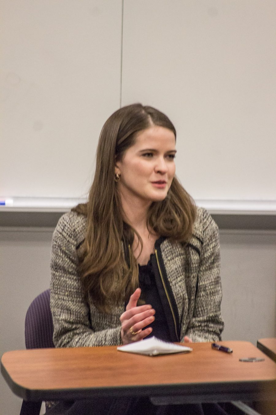Maggie Beecher '17 at Religion in Law panel