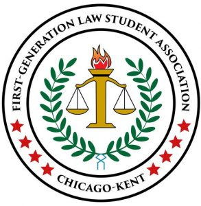 Logo for First Generation Law Students Association at Chicago-Kent College of Law