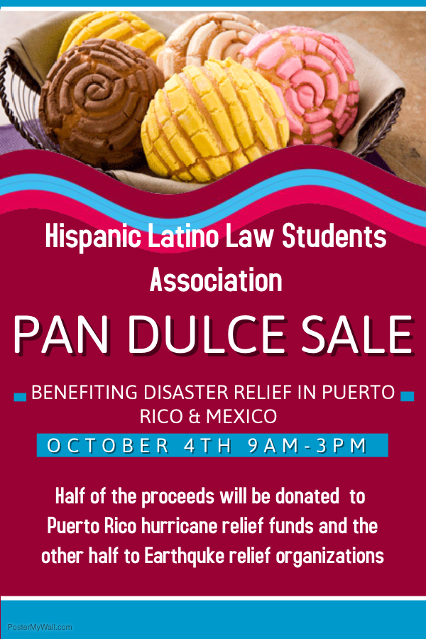 Pan Dulce Disaster Relief Flyer