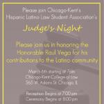 Judge's Night 2014 Flyer