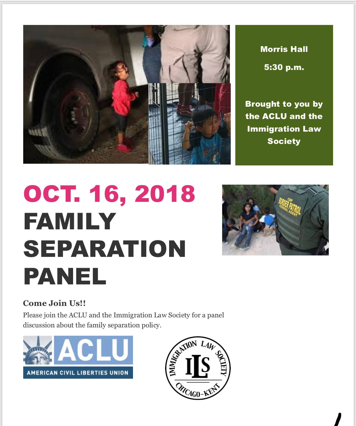 October 2018 Family Separations Flyer