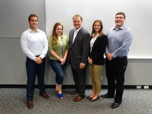 2016-17 Chicago-Kent Justinian Society Executive Board with guest speaker and CK Alumnus, Jim Morici, of Morici Figlioli & Assc. (9/1/16)