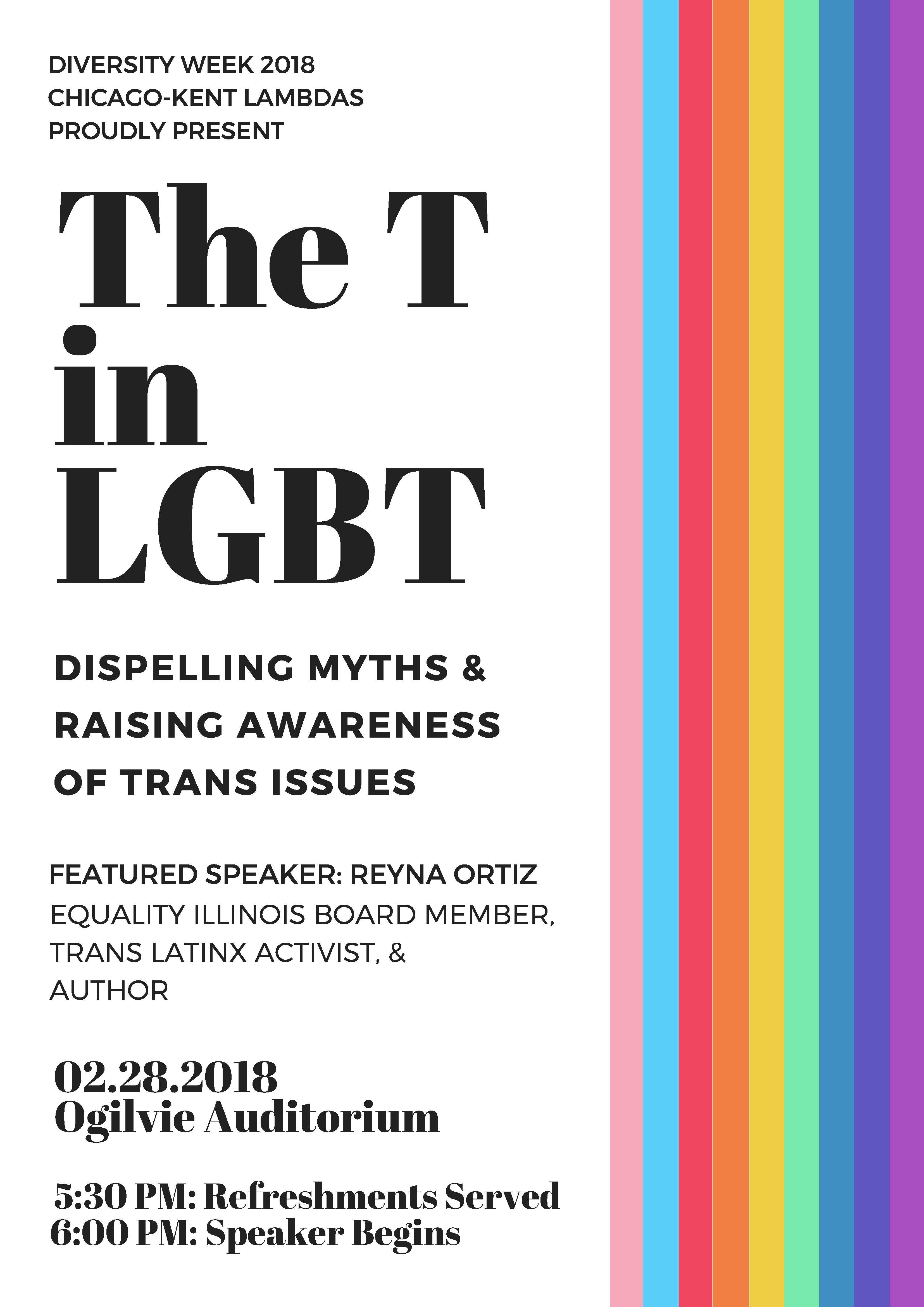 T in LGBT flyer