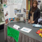 Shahina Khan at 2017 student org fair