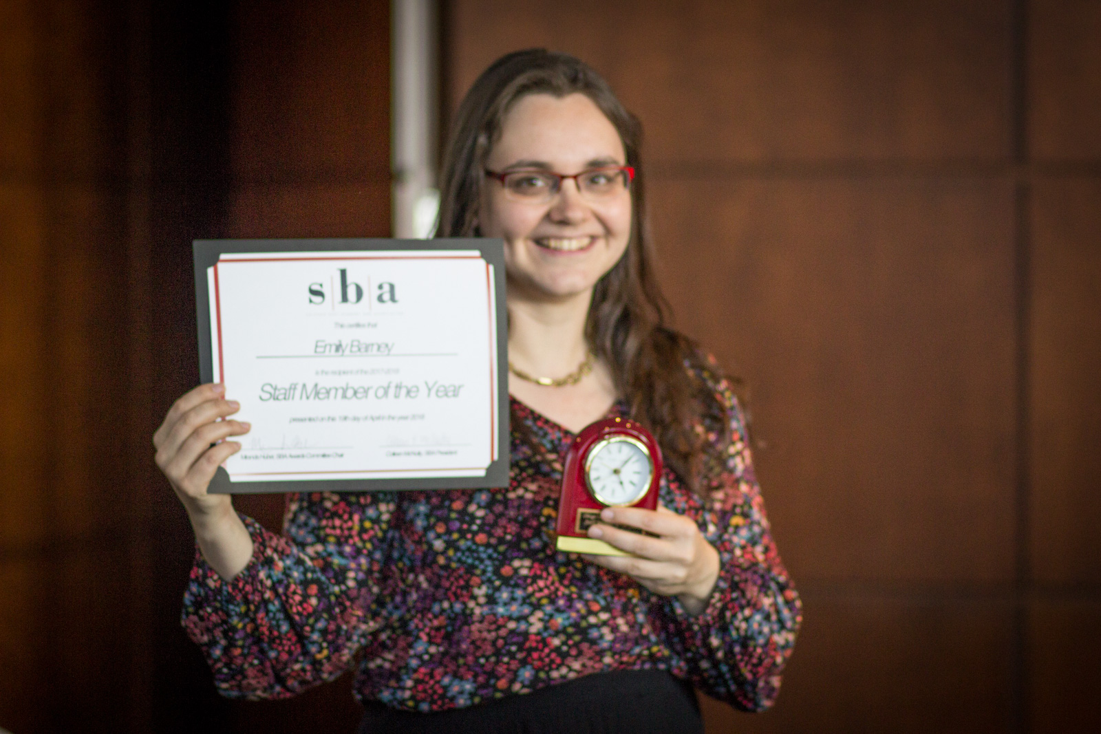 Emily Barney, 2017-2018 Staff Member of the Year