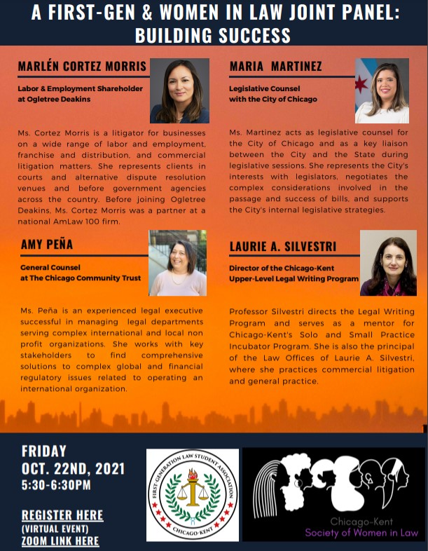 Flyer for Building Success Panel 10/22/2021