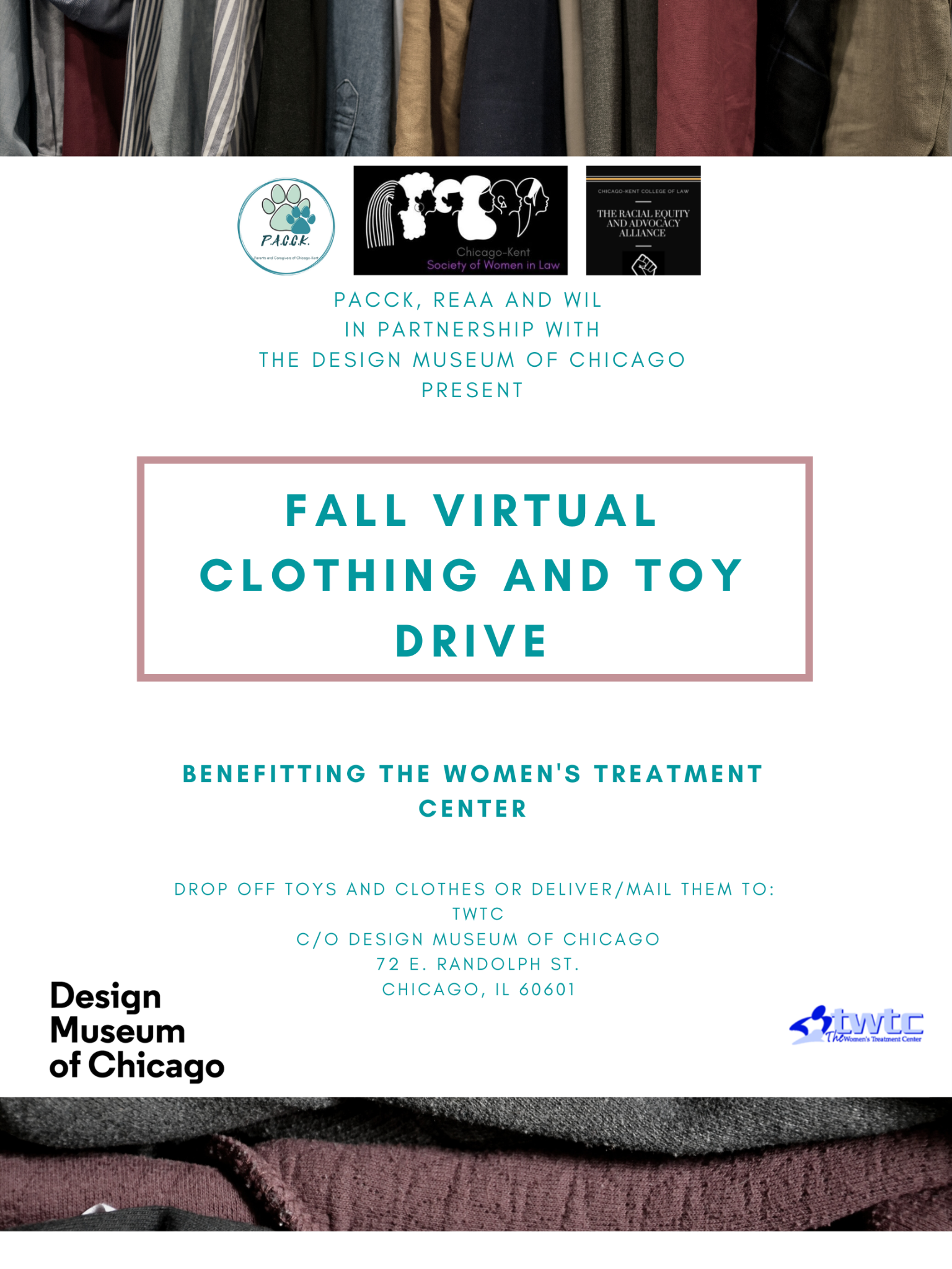 Flyer for Fall 2021 Clothing and Toy Drive