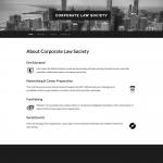 Corporate Law Society website screenshot