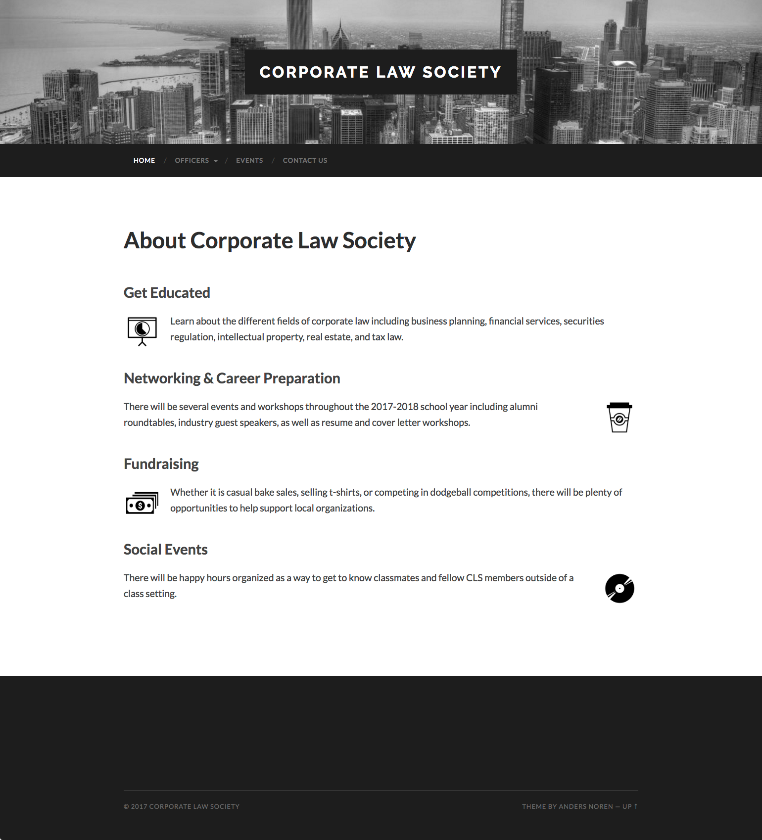 Corporate Law Society website screenshot