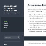 Muslim Law Student Association websites screenshot