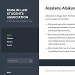 Muslim Law Student Association websites screenshot