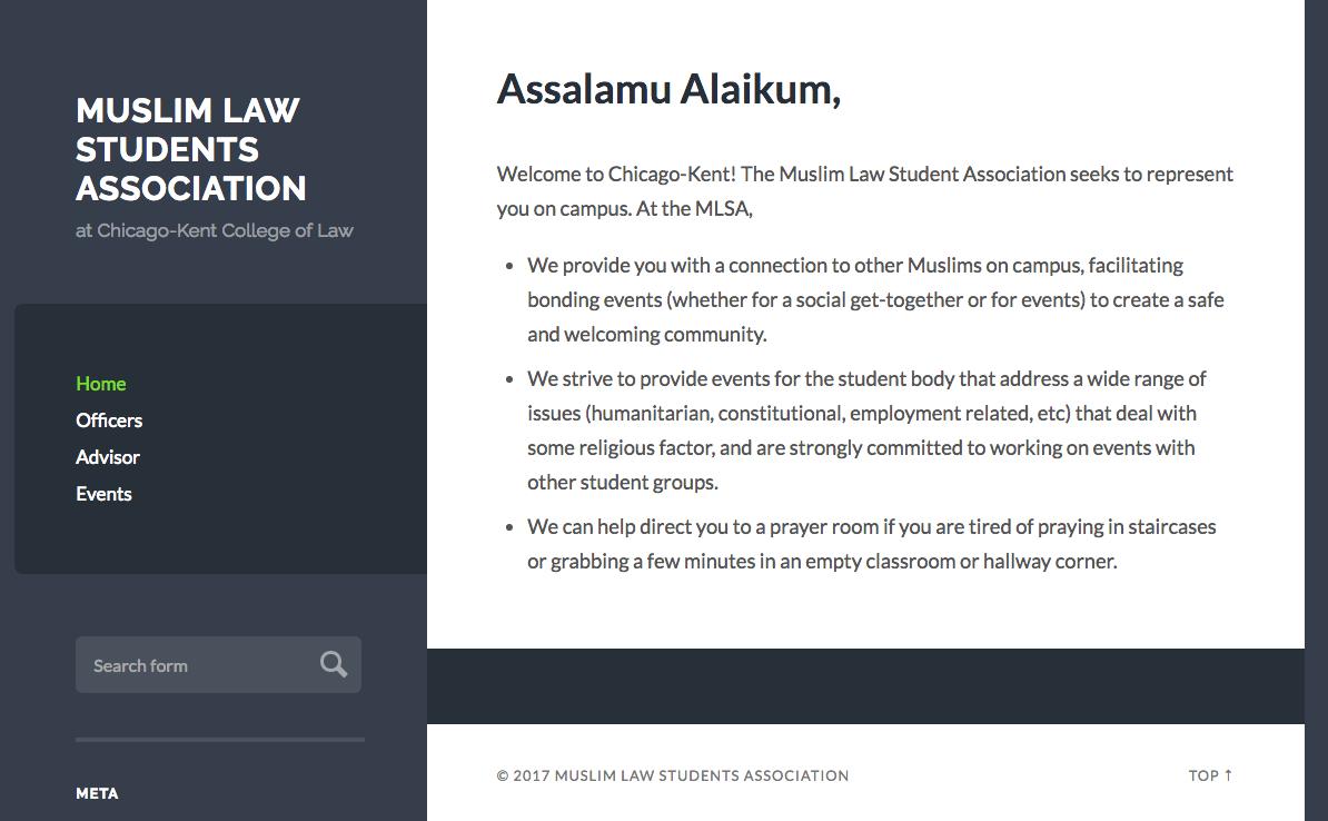 MLSA Wilson Theme - Student Organizations