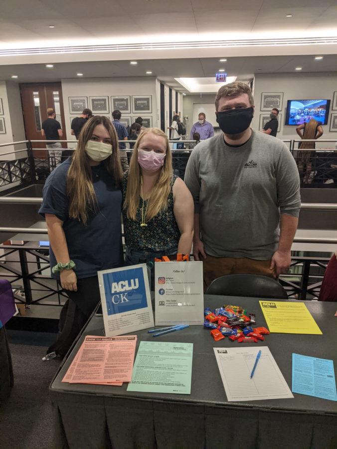 ACLU at Fall 2021 Student Org Fair